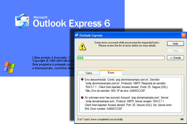 Fixing Outlook Express error 0x800CCC6F | iLucato com br