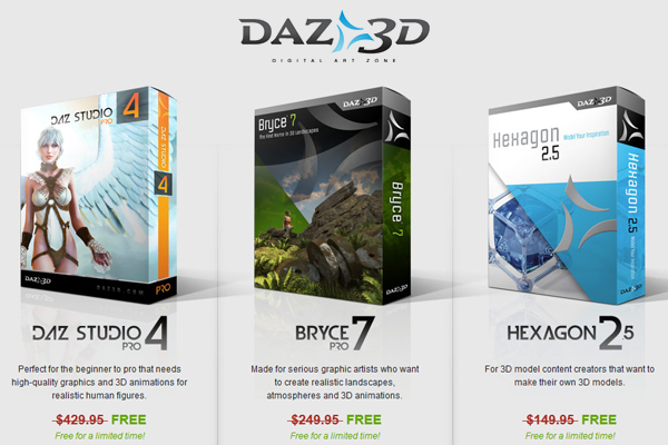 DAZ 3D for free - Limited time