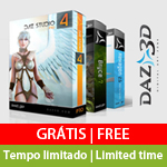 Programas DAZ 3D grátis por tempo limitado para PC & MAC. Economize R$ 1.500,00 | DAZ 3D free for limited time for PC & MAC. Save US$ 800.00