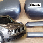 Como instalar as capas de aplique nos espelhos retrovisores e maçanetas no Jeep Renegade|How to install the applique covers on the side view mirrors and door handles on the Jeep Renegade